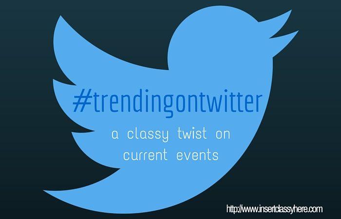 #trendingontwitter: Politics, Aretha & Relaxation